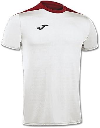 Joma - Camiseta Spike Blanco-Rojo m/c para Hombre: Amazon.es: Ropa ...