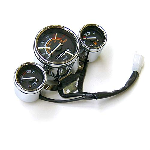 (Speedometer Gauge Instrument ForR Retro & Ruckus Style Scooter GY6 4-Stroke 6 pin Connector 5 wires)
