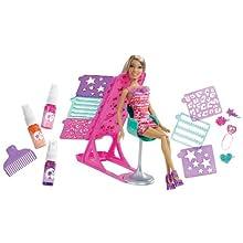 Barbie Hairtastic Color and Design Salon Nikki Doll