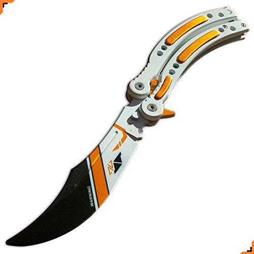 Custom CSGO practice knife, Asiimov Finish, No Edge, Unsharpened Blade, Rounded off Tip, 2nd Gen, Knivesmatter