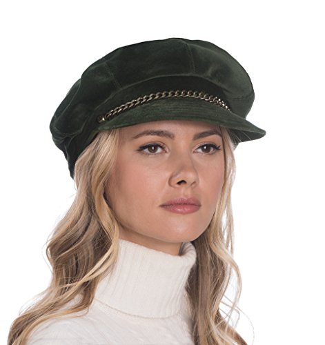 Eric Javits Luxury Fashion Designer Women's Headwear Hat - Thames Cap - Forest by Eric Javits