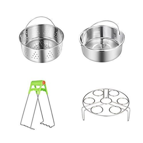 Flourance Compatible Instant Pot Accessories Set: Steamer Basket,Insert
