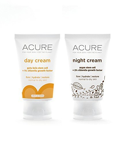 Acure Organics Anti-Aging Natural Day and Night Face Cream W