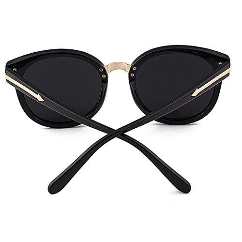 moda gafas de retros negro femeninas de Pequeño compras polarizador sol de árbol gafas decorativas sol gafas Caja coreanas grandes de de la Pf7Uw4q