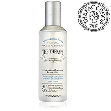 Bmr Facial Toner ([THEFACESHOP] The Therapy. Hydrating Tonic Treatment Anti Aging Wrinkle Care 150mL/5.0Oz)