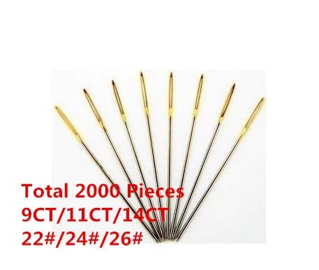 Embroidery Needles - 1 Lot=2000 Pieces 22# 24# 26# Embroidery Needle Cross Stitch Needle Best Choice by Embroidery Needles