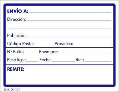 500 Etiquetas de ENVIO/DESTINO, para enviar documentos o ...