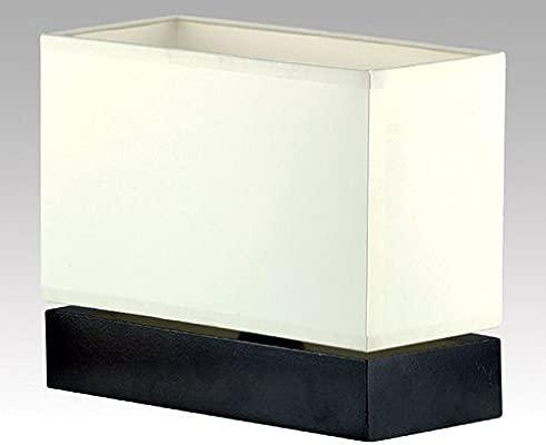Bauhaus - Lámpara de mesa (en negro, crema, altura 20 cm forjada ...
