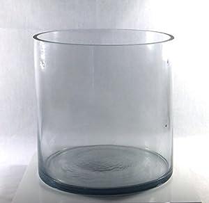 8 inch round large glass vase 8 clear cylinder oversize centerpiece 8x8. Black Bedroom Furniture Sets. Home Design Ideas