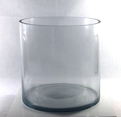 8-Inch Round Large Glass Vase - 8