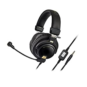"""Audio-Technica ATH-PG1 Closed-Back Premium Gaming Headset with 6"""" Boom Microphone"""