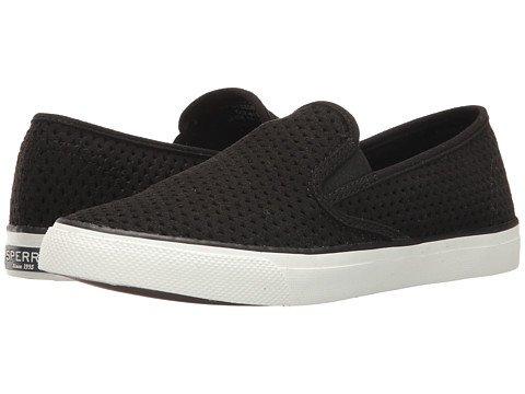 (スペリートップサイダー) SPERRY TOPSIDER レディースウォーキングシューズ?カジュアルスニーカー?靴 Seaside Scale Emboss Black 8 25cm M (B) [並行輸入品]