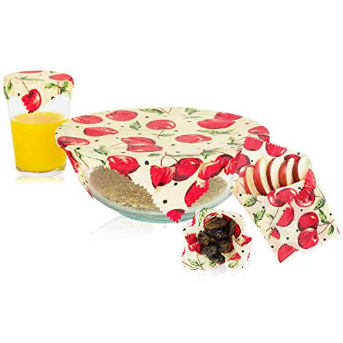 MOCO Organics Beeswax Food Wrap - Reusable 120-150 Times, Wraps Food, Bowls, Containers, and Sandwiches - Natural, Organic, Biodegradable, Compostable and Eco-Friendly Storage Alternative to Plastic