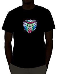 Sound Activated Light Up Rave Shirt