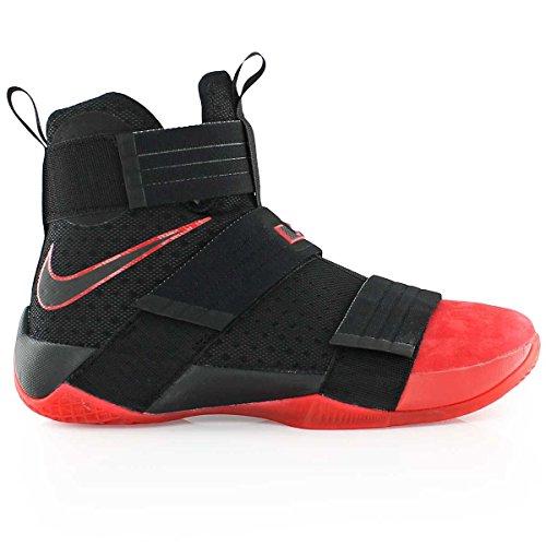 Nike Men's 844378-060 Basketball Shoes, Blue Black (Black / Black-black-university Red)