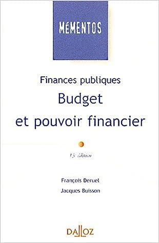 Lire Finances publiques. Budget et pouvoir financier epub pdf