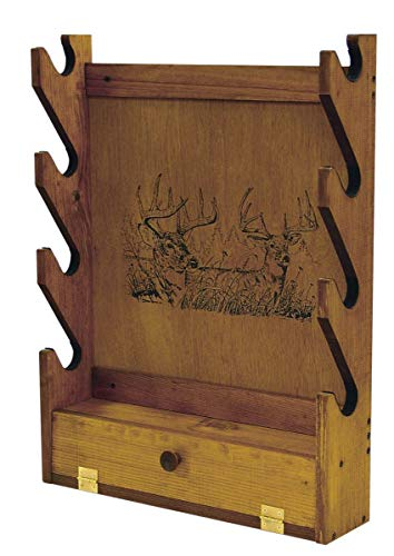 Evans Sports TC28-66 Gun Rack with Storage Compartment - Two Trophy Deer Imprint