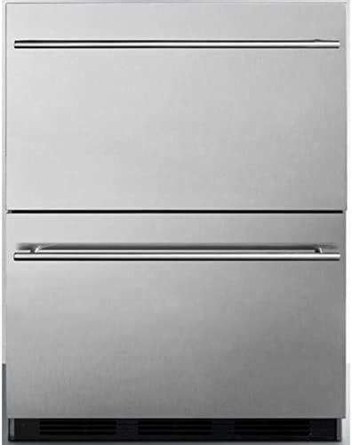 Stainless Steel Summit SP6DS2D7 Built-in Drawer Refrigerator