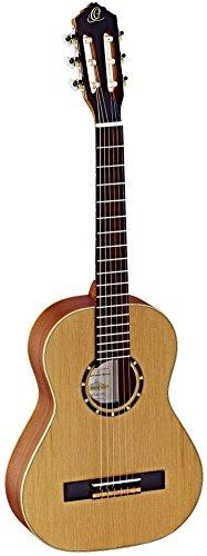 Ortega Guitars R122-1/2 Family Series 1/2 Body Size Nylon 6-String Guitar with Cedar Top, Mahogany/Satin Finish/Natural ()