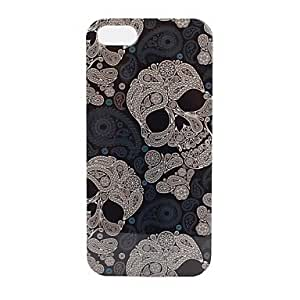 TYLace Skulls Pattern Transparent Frame Hard Case for iPhone 5/5S