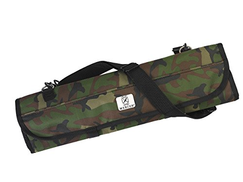 Mercer Culinary 7-Pocket Knife Roll Storage Bag, One Size, Camouflage by Mercer Culinary