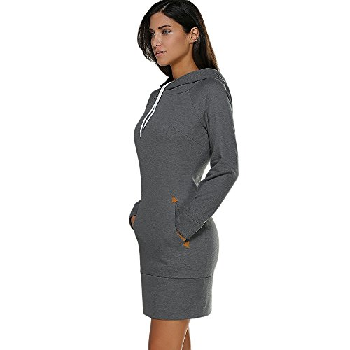 CharMma - Sudadera con capucha - para mujer Gris Profunda
