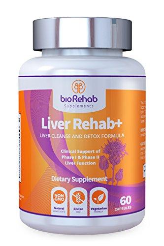 Liver naturel tous les purifier avec le chardon-Marie (80 % de silymarine), Taurine, CNA et glutathion | Conçu pour le puissant 2-stade du foie Detox & prise en charge par BioRehab