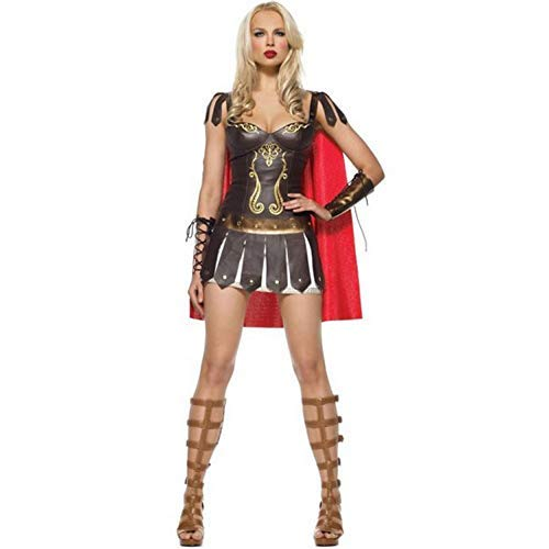 Cosplay Halloween Greek Goddess Cloak Gladiator Samurai Costume Wonder Woman Game Uniforms Anime Theme Masquerade Accessories]()