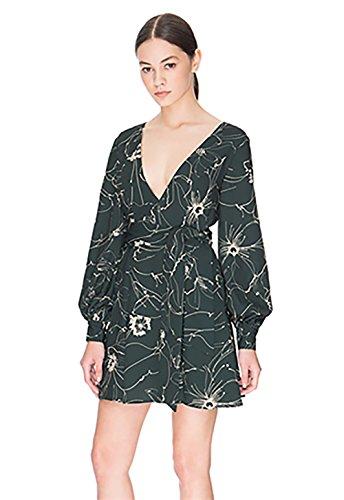 Keepsake Heat Wave Long Sleeve Mini Dress in Sketch Floral Dark (Medium)