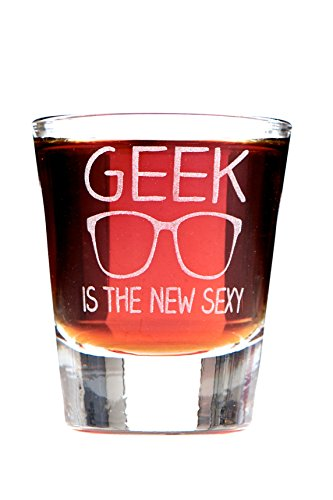 [Geek Is the New Sexy Shot Glass] (Heart New Elephant)