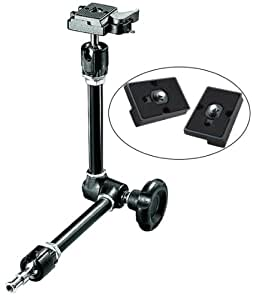 Manfrotto 244RC Variable Friction Magic Arm and Two Replacement Quick Release Plates for the RC2 Rapid Connect Adapter