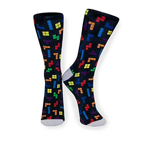 Pop Sqr 90's Era Retro Tetris Socks by Pop Sqr