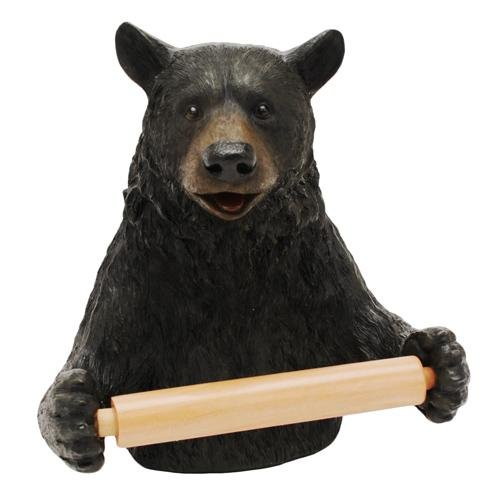 River's Edge Unique Poly Resin Design Cute Bear Toilet Paper Holder