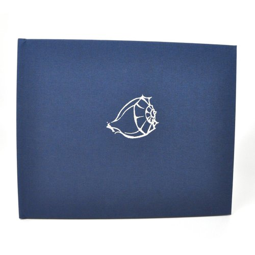 Ribbon Bound Guest Book - Beach Home Guest Book with Lined Pages - Navy Blue Linen