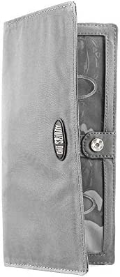 Big Skinny Women's Executive Bi-Fold Checkbook Slim Wallet, Holds Up to 40 Cards, Graphite