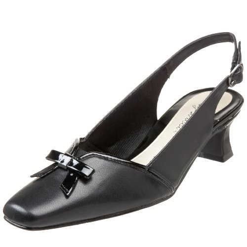 Easy Street Women's Incredible Pump,Black Patent,8.5 W US