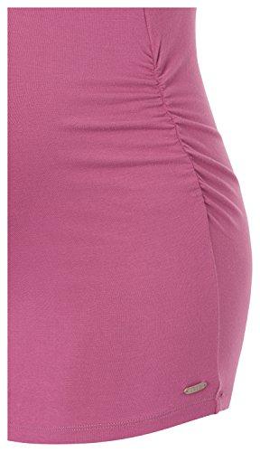 Esprit O84745 - Camiseta Mujer Rosa (Creamy Berry 684)