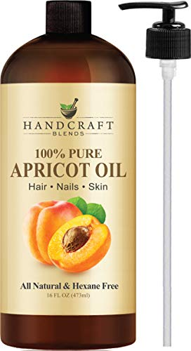 100% Pure Apricot Kernel Oil - HUGE 16 OZ - All Natural Premium Quality - Cold Pressed Carrier Apricot Oil for Aromatherapy, Massage & Moisturizing Skin ()
