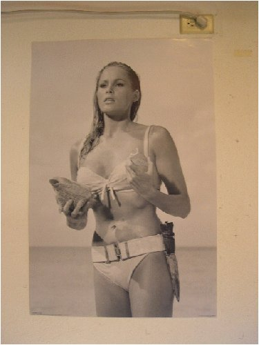 Ursula Andress Dr. No James Bond Poster in Swimsuit Dr