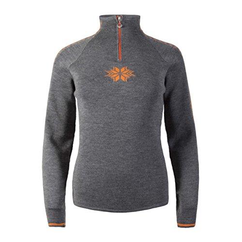 Dale of Norway Geilo Feminine Sweater, Smoke/Orange Peel, Small