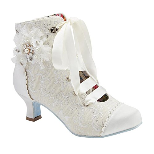 Hitched Joe Couture Boots Ivory Wedding Bridal Ivory Browns Victorian vTHax6w