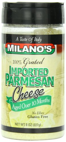 Milano's Parmesan Cheese Jars, Imported Grated, 8 Ounce (Parmesan Grated)