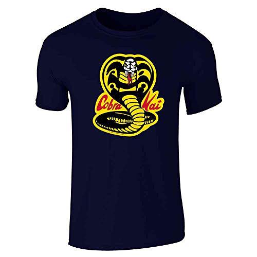 Cobra Kai Karate Kid Dojo Retro Martial Arts Navy Blue XL Short Sleeve T-Shirt ()