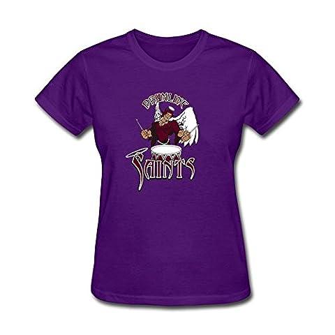 NYShirt Women's Columbus Saints Drum and Bugle Corps Short Sleeve T-Shirt (Dead Drum Player)