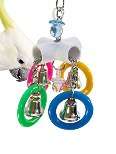 1882 Olympic Rings Bird Toy Parrot cage Toys Cages African Grey Amazon Macaw Conure. Quality Product Hand Made in The USA.