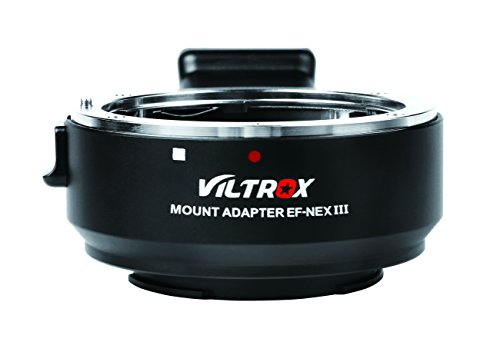 VILTROX EF-NEX III Electronic Auto Focus Lens Mount Adapter for Canon EF EF-S Lens to Sony E Mount a7R II/a7S/a7R/a7II/ NEX-7/6 Full Frame by VILTROX