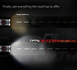 OPT7 Blitz Fog Light HID Kit 3x Brighter - 4x Longer Life - All Colors and Sizes Simple DIY Install - 2 Yr Warranty - Bulbs and Ballasts [H7 - 8K Ice Blue Xenon]
