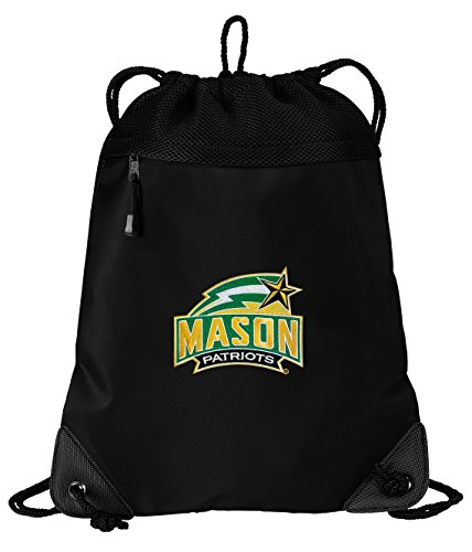Broad Bay GMU Drawstring Bag George Mason University Cinch Pack Backpack UNIQUE MESH & MICROFIBER by Broad Bay
