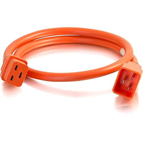C2G 5ft 12AWG IEC320C20 to IEC320C19 Power Extension Cable [Orange]