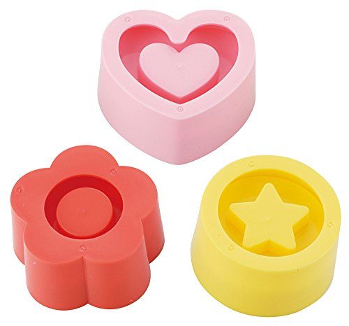 Torune Kai Chuboos Sushi Rice Press Mold with Hollow 3pcs (Flower, Heart, Star) FG-5063 by Chuboos